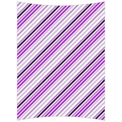 Purple Diagonal Lines Back Support Cushion