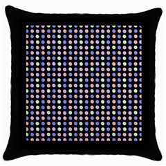 Blue Peach Green Eggs On Black Throw Pillow Case (black)