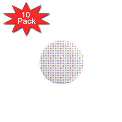 Blue Pink Yellow Eggs On White 1  Mini Magnet (10 Pack)