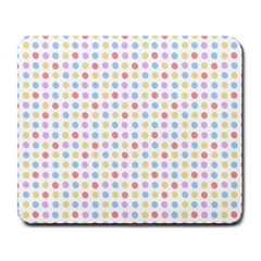 Blue Pink Yellow Eggs On White Large Mousepads