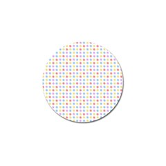 Blue Pink Yellow Eggs On White Golf Ball Marker (10 Pack)