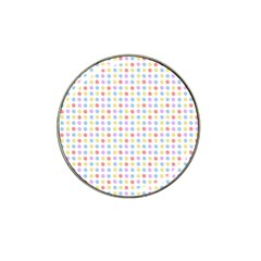 Blue Pink Yellow Eggs On White Hat Clip Ball Marker (4 Pack)