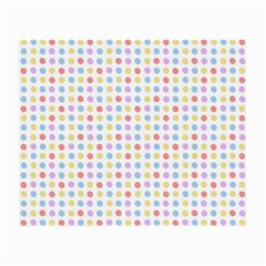 Blue Pink Yellow Eggs On White Small Glasses Cloth (2 Side)