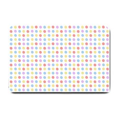 Blue Pink Yellow Eggs On White Small Doormat