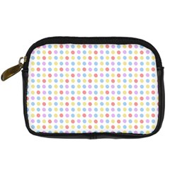 Blue Pink Yellow Eggs On White Digital Camera Cases