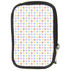 Blue Pink Yellow Eggs On White Compact Camera Cases