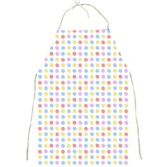 Blue Pink Yellow Eggs On White Full Print Aprons