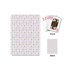 Blue Pink Yellow Eggs On White Playing Cards (mini)