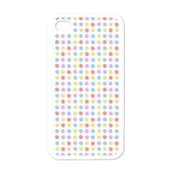 Blue Pink Yellow Eggs On White Apple Iphone 4 Case (white)