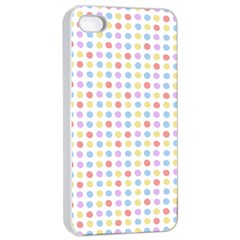 Blue Pink Yellow Eggs On White Apple Iphone 4/4s Seamless Case (white)
