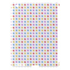 Blue Pink Yellow Eggs On White Apple Ipad 3/4 Hardshell Case (compatible With Smart Cover)