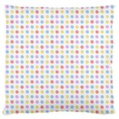 Blue Pink Yellow Eggs On White Large Cushion Case (one Side)