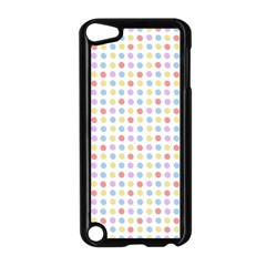 Blue Pink Yellow Eggs On White Apple Ipod Touch 5 Case (black)