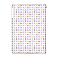 Blue Pink Yellow Eggs On White Apple Ipad Mini Hardshell Case (compatible With Smart Cover)