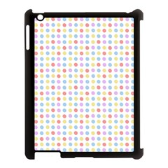 Blue Pink Yellow Eggs On White Apple Ipad 3/4 Case (black)