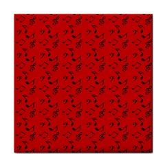 Red Music Tile Coasters