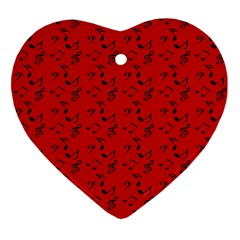 Red Music Ornament (heart)