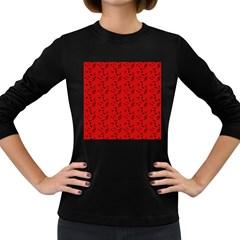 Red Music Women s Long Sleeve Dark T Shirts