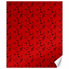 Red Music Canvas 8  X 10