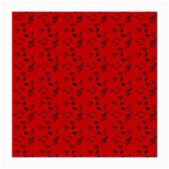 Red Music Medium Glasses Cloth (2 Side)