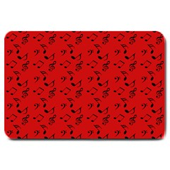 Red Music Large Doormat