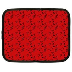 Red Music Netbook Case (xxl)