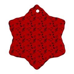 Red Music Ornament (snowflake)