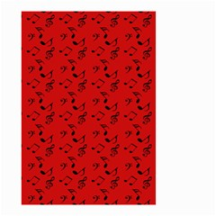 Red Music Small Garden Flag (two Sides)