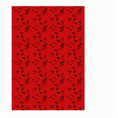 Red Music Large Garden Flag (two Sides)