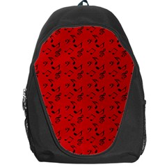 Red Music Backpack Bag