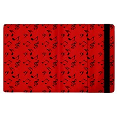 Red Music Apple Ipad 2 Flip Case