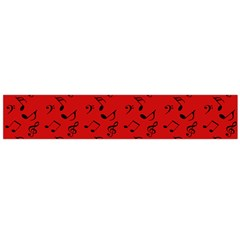 Red Music Large Flano Scarf