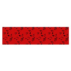 Red Music Satin Scarf (oblong)