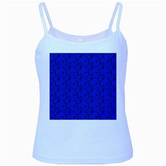 Royal Blue Music Baby Blue Spaghetti Tank