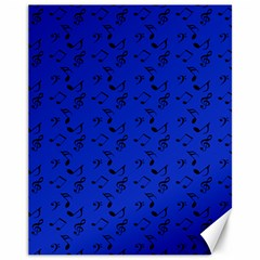 Royal Blue Music Canvas 11  X 14