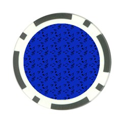 Royal Blue Music Poker Chip Card Guard