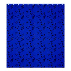 Royal Blue Music Shower Curtain 66  X 72  (large)