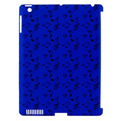 Royal Blue Music Apple Ipad 3/4 Hardshell Case (compatible With Smart Cover)