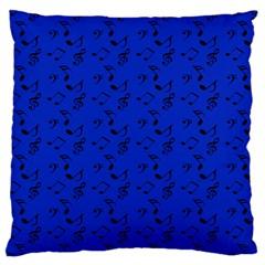 Royal Blue Music Large Cushion Case (one Side)