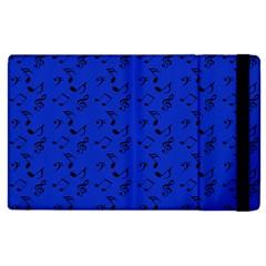 Royal Blue Music Apple Ipad 3/4 Flip Case