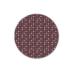 Grey Pink Lilac Brown Eggs On Brown Magnet 3  (round)