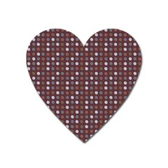 Grey Pink Lilac Brown Eggs On Brown Heart Magnet