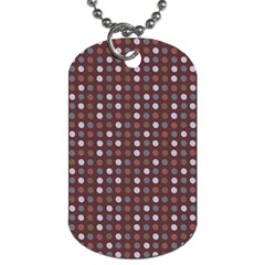 Grey Pink Lilac Brown Eggs On Brown Dog Tag (two Sides)