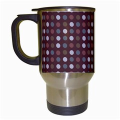 Grey Pink Lilac Brown Eggs On Brown Travel Mugs (white)