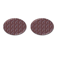 Grey Pink Lilac Brown Eggs On Brown Cufflinks (oval)