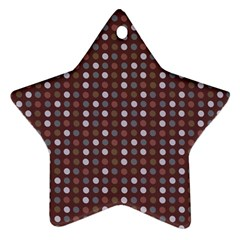 Grey Pink Lilac Brown Eggs On Brown Star Ornament (two Sides)