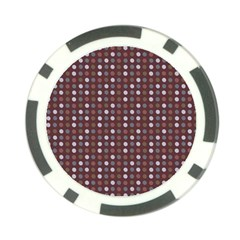 Grey Pink Lilac Brown Eggs On Brown Poker Chip Card Guard