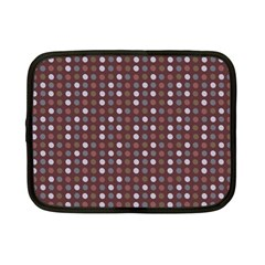 Grey Pink Lilac Brown Eggs On Brown Netbook Case (small)