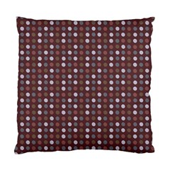 Grey Pink Lilac Brown Eggs On Brown Standard Cushion Case (two Sides)