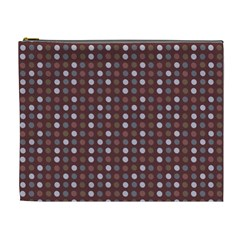 Grey Pink Lilac Brown Eggs On Brown Cosmetic Bag (xl)
